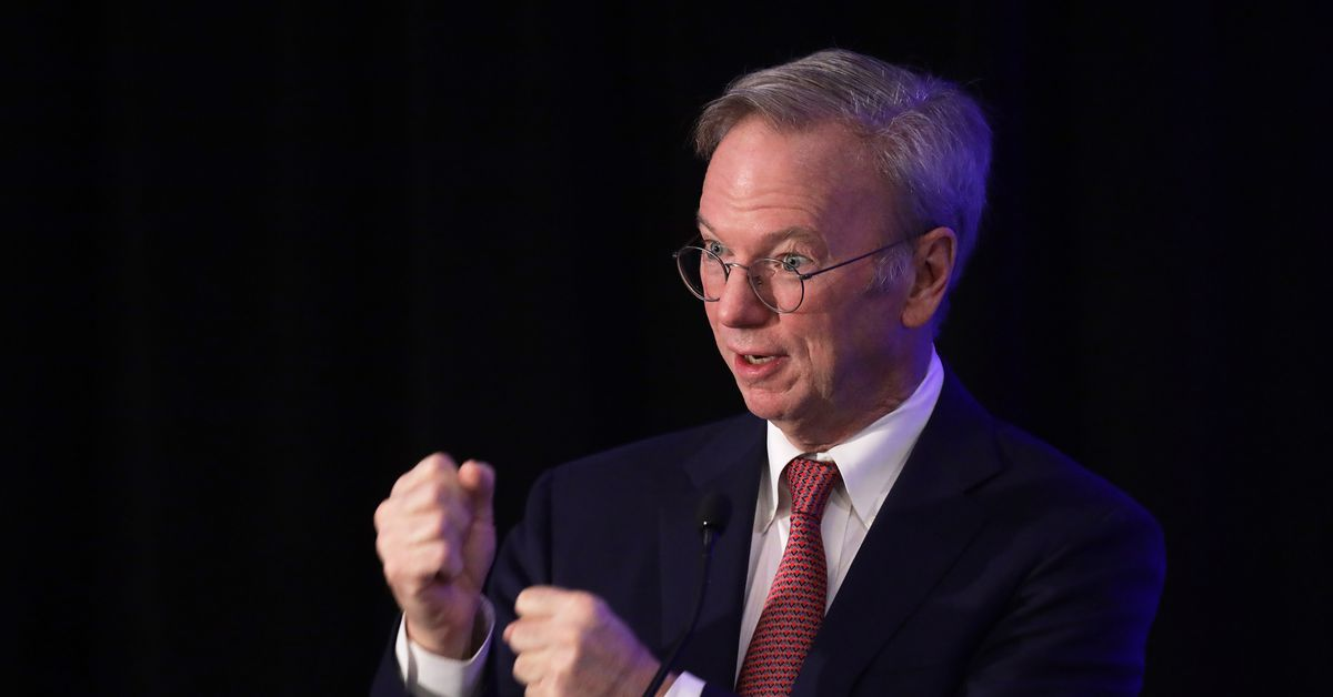 "Former Google CEO Eric Schmidt hopes the coronavirus makes people more ""grateful"" for Big Tech"