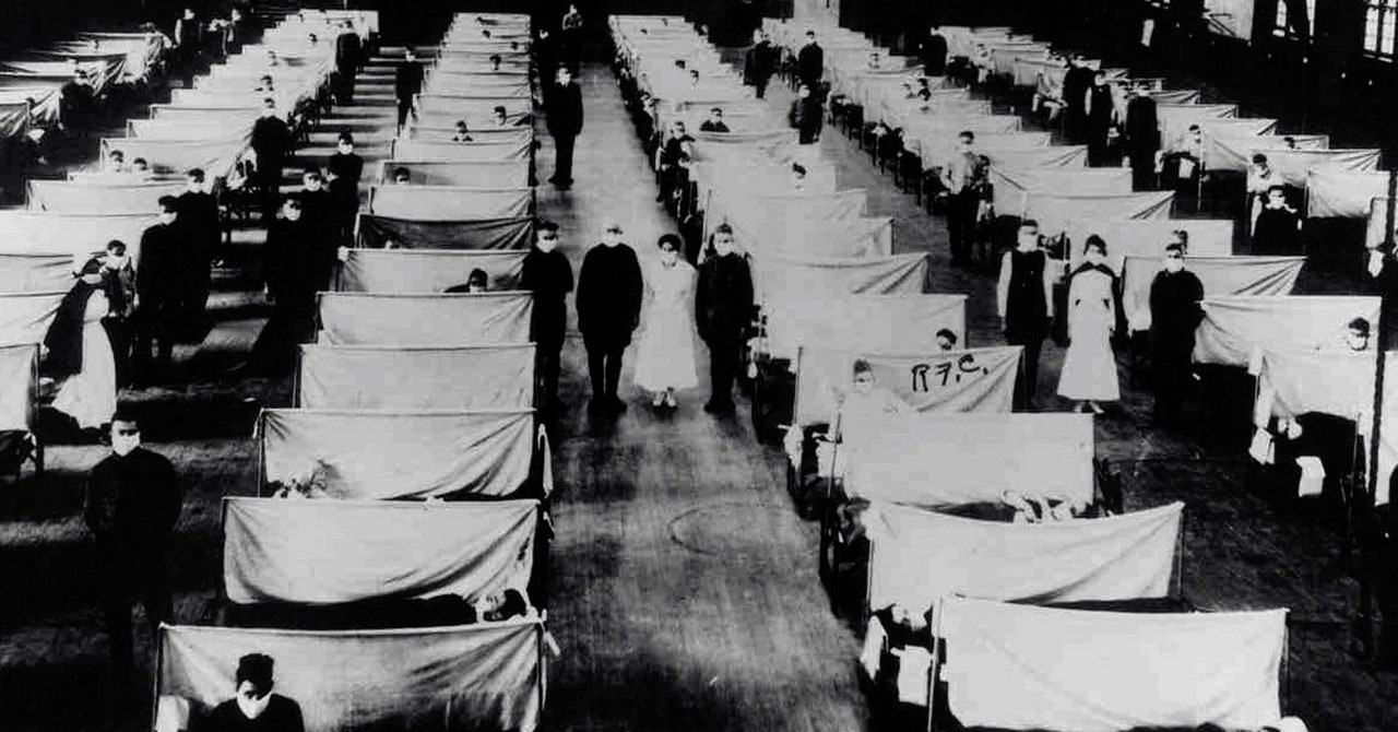 The Shared Visual Language of the 1918 and 2020 Pandemics