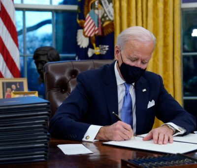Biden's first steps as president: Action on covid and climate