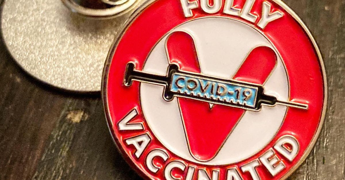 Covid-19 vaccine buttons, T-shirts, andmerch are selling out fast on Etsy